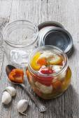 Homemade preserved vegetables — Stock Photo