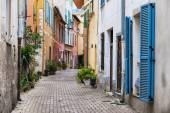 Old town street  in Villefranche-sur-Mer — Stock Photo
