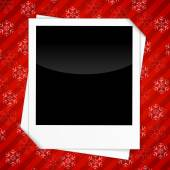 Winter holidays card with blank photo frames — Vetor de Stock