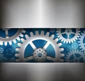 ギヤ車輪の抽象的な背景 — ストックベクタ