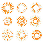 Symbolic sun set — Stock Vector