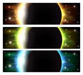 Eclipse banners — Stock Vector