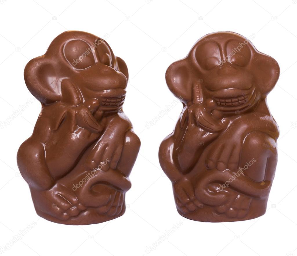 Resultado de imagen para dos monos de chocolate imagenes