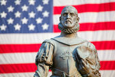 Statue of Pedro Menendez de Aviles, founder of St. Augustine, Florida — Stock Photo