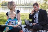 Balance between work and family life — Stock Photo