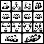 Teamwork user icon — Vector de stock