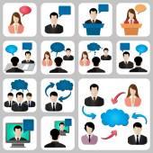 Talk social icon — Vetorial Stock