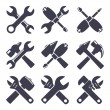 Set icons of tools — Stock Vector #59369735