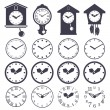 Clock set — Stock Vector #59624713