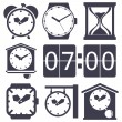 Clock set — Stock Vector #59624715