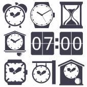 Clock set — Stock Vector