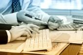 деловой бухгалтерский учет — Стоковое фото