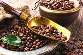 Zwarte koffie — Stockfoto