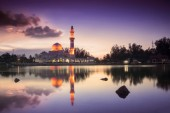 Beautiful Mosque in Glorious Sunset — Stock Photo
