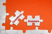 Questions and Answers Tex - Business Concepts — Stock Photo