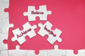 Achieve Believe Imagine Text - Business Concept — Stock Photo