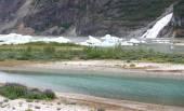 Mendenhall Glacier National Park in Juneau Alaska — Stock Photo