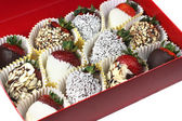 Chocolate Strawberries — Stock Photo