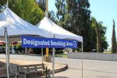 Designated smoking area — Stock Photo