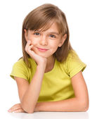 Portrait of a pensive little girl — Stock Photo