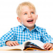 Little child play with book — Stock Photo #60153425
