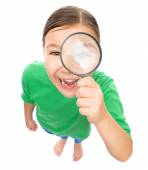 Portrait of a funny little girl — Stock Photo