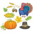 Thanksgiving symbols — Stock Vector #53600475