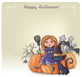 Felice sfondo halloween 3 — Vettoriale Stock