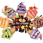 Ice cream different — Stock Vector #73867433