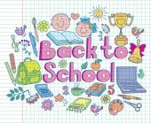 Back to school composition color — Stock Vector