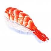 Nigiri sushi with shrimp — Stock Photo