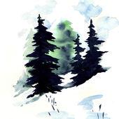 Sneeuw bos — Stockfoto