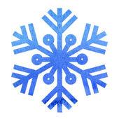 Blauwe sneeuwvlok — Stockfoto