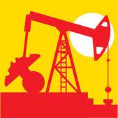 Oil industry, pump, vector — Stock Vector