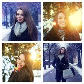 Winter portraits — Stock Photo