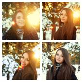 Winter portraits — Stock Photo