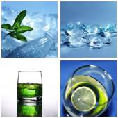 Cold water collage — Stock Photo