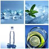 Cold water collage — Foto de Stock