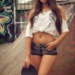 Sexy skater girl — Stock Photo #58790701