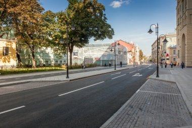 Pyatnitskaya street after renovation, Moscow, Russia