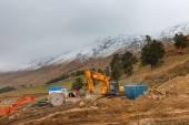Arkhyz Park ski resort construction — Stock Photo