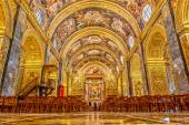 St John's Co-Cathedral interior — Stock Photo