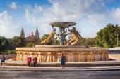 Famous Valetta landmark Triton fountain — Stock Photo