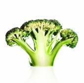 Broccoli cutaway on white — Stock Photo