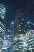 Office buildings at night — Stock Photo