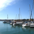 Постер, плакат: Of yachts in the harbor Orihuela Costa