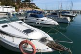 Of yachts in the harbor Orihuela Costa — Стоковое фото