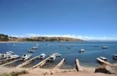Montaña lago titicaca. — Foto de Stock