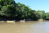 The locals on the river  Guayabero. — Foto Stock