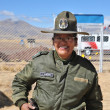 Unknown woman police officer from Tiahuanaco — Stock Photo #63403581